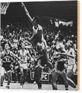Basketball Game, 1966 Wood Print