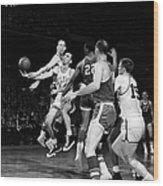 Basketball Game, C1960 Wood Print