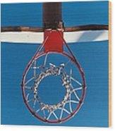 Basketball Goal Wood Print