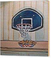 Basketball Hoop Sketchbook Project Down My Street Wood Print by Irina Sztukowski