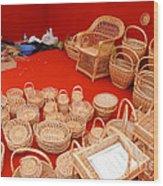 Basketwork Wood Print