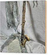 Bass Clarinet Wood Print