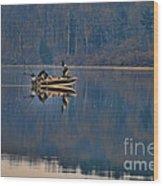 Bass Fishing Wood Print