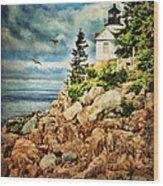 Bass Harbor - Acadia Np Wood Print