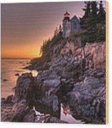 Bass Head Harbor Lighthouse Wood Print