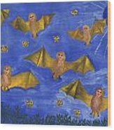Bat People At The Pipistrelle Party Wood Print