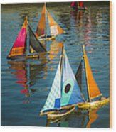 Bateaux Jouets Wood Print