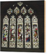 Bath Abbey Stained Glass Wood Print