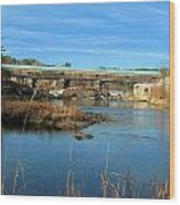 Bath Covered Bridge Wood Print