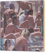 Bathers - I Bagnanti Wood Print