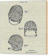 Bathing Cap 1936 Patent Art Wood Print by Prior Art Design