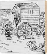 Bathing Machine, 1888 Wood Print