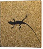 Bathroom Window Lizard Wood Print