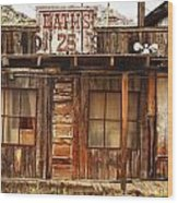 Baths Twenty Five Cents Wood Print