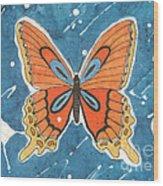 Batik Butterfly Wood Print