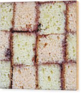 Battenburg Cake Wood Print