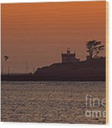 Battery Point Sunset Wood Print