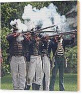 Battle 21 Wood Print
