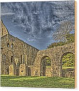 Battle Abbey Ruins Wood Print