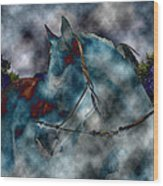 Battle Cloud - Horse Of War Wood Print
