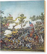 Battle Of Atlanta, 1864 Wood Print