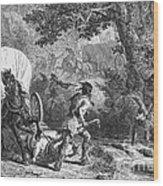 Battle Of Bloody Brook 1675 Wood Print