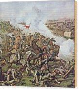 Battle Of Five Forks Virginia 1st April 1865 Wood Print by American School