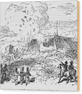 Battle Of Fort Erie, 1814 Wood Print
