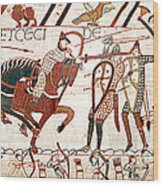 Battle Of Hastings Bayeux Tapestry Wood Print
