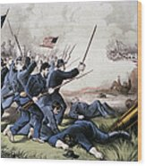 Battle Of Jonesboro, 1864 Wood Print