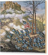 Battle Of Lookout Mount Wood Print