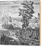 Battle Of Malplaquet, 1709 Wood Print