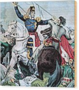 Battle Of Veracruz, Mexican-american Wood Print