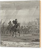 Battle Of Williamsburg Wood Print