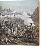 Battle Of Winchester, Wood Print