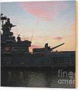 Battleship Wood Print