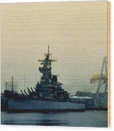 Battleship New Jersey Wood Print