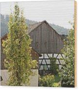 Bavarian Barn Wood Print