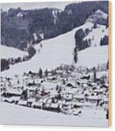 Bavarian Village Wood Print