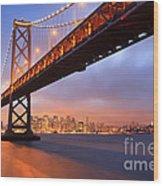 Bay Bridge To San Francisco Wood Print