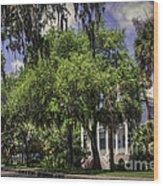 Bay Street Beaufort Sc II Wood Print