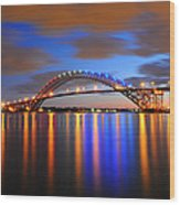 Bayonne Bridge Wood Print by Paul Ward