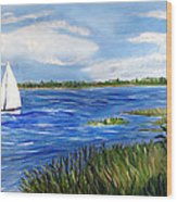 Bayville Marsh Wood Print