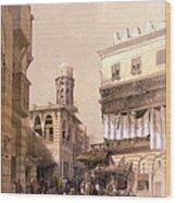 Bazaar Of The Coppersmiths Cairo Wood Print