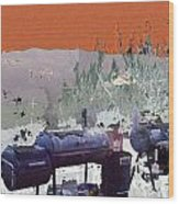 Bbq Smokers Arizona Wood Print