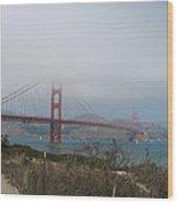 Be In A Mist - Golden Gate Bridge Wood Print
