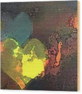 Be Love Wood Print by Gina Barkley