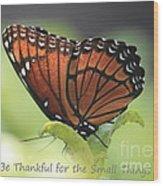 Be Thankful Wood Print by Carol Groenen