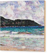 Beach 1 Wood Print