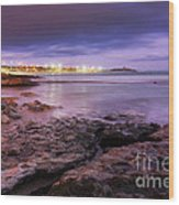 Beach At Dusk Wood Print by Carlos Caetano